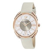 Swarovski Crystalline Glam Taupe + Rose Gold Watch