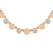August Woods Rose Gold Crystal Coin Necklace
