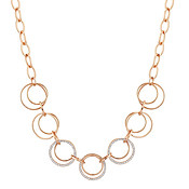 August Woods Rose Gold Loop Necklace