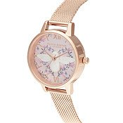 Olivia Burton Meant To Bee Rose Gold Mesh Watch