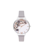 Olivia Burton Watercolour Flower Silver Watch