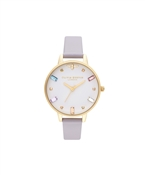 Olivia Burton Rainbow Bee Parma Violet + Gold Watch
