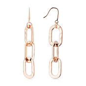August Woods Rose Gold Chain Drop Earrings