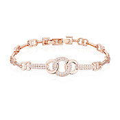 August Woods Rose Gold Twisted Circle Bracelet