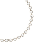 Ted Baker Silver Rosele Rivoli Collar Necklace