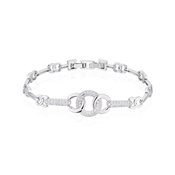 August Woods Silver Twisted Circle Bracelet