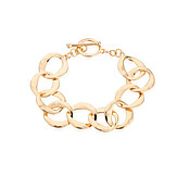 August Woods Gold T-Bar Circlet Bracelet
