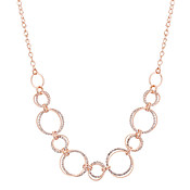 August Woods Rose Gold Crystal Loops Necklace