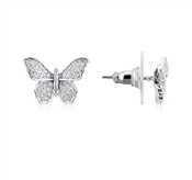 August Woods Silver Butterfly Sparkle Earrings