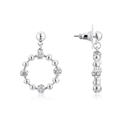 August Woods Silver Detailed Hoop Earrings