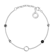 Thomas Sabo Black Skull Charm Carrier Bracelet