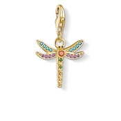 Thomas Sabo Gold Colourful Dragonfly Charm