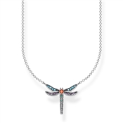 Thomas Sabo Colourful Dragonfly Necklace