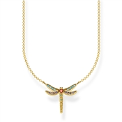 Thomas Sabo Gold Colourful Dragonfly Necklace