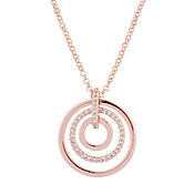 August Woods Rose Gold Ripple Effect Necklace