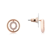 August Woods Rose Gold Mini Circle Earrings