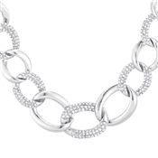 August Woods Silver Crystal Chain Necklace