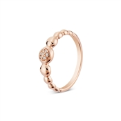 Argento Rose Gold Circle Pebble Ring