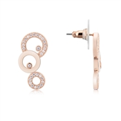 August Woods Rose Gold Mismatched Loop Earrings