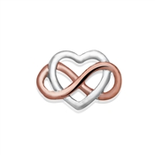 Storie Mixed Metal Infinite Heart Charm