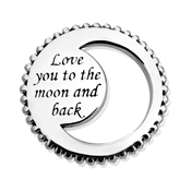 Storie Silver Love You To The Moon Charm