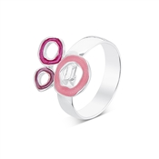 August Woods Pink & Purple Circle Adjustable Ring