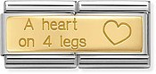 Nomination A Heart On 4 Legs Double Charm