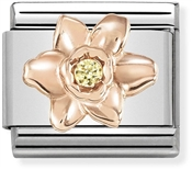 Nomination Rose Gold Daffodil Charm