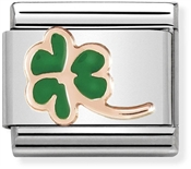Nomination Rose Gold Four Leaf Clover Charm