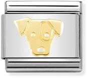 Nomination Gold Jack Russell Dog Charm