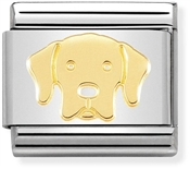 Nomination Gold Labrador Dog Charm