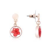 August Woods Rose Gold Hidden Flower Drop Earrings