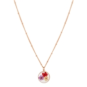 August Woods Rose Gold Hidden Flower Necklace