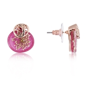 August Woods Pink + Rose Gold Hidden Flower Earrings