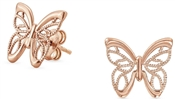 Nomination Rose Gold Primavera Butterfly Earrings