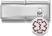 Nomination Medical Tag Double Engravable Charm