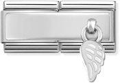 Nomination Silver Double Engravable Wing Charm