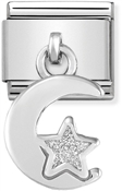 Nomination Moon & Star Hanging Charm