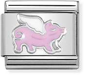 Nomination Flying Pig Charm