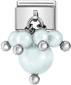 Nomination Pastel Blue Pearl Charm