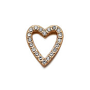 Karma Open Gold Crystal Heart Charm