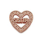 Karma Rose Gold Sister Heart Charm