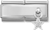 Nomination Silver Double Engravable Star Charm