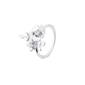 Argento Silver Cluster Flower Ring