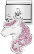Nomination Glitter Unicorn Hanging Charm