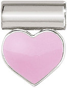 Nomination Silver SeiMia Pink Heart Charm