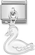 Nomination Swan Princess Hanging Charm