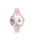 Olivia Burton Painterly Prints Hummingbird Pink Watch