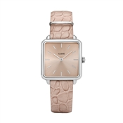 CLUSE La Tetragone Almond Alligator + Silver Watch