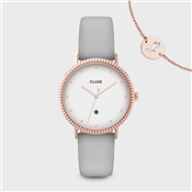 CLUSE Le Couronnement Soft Grey + Rose Gold Watch